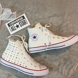 NWOB White Studded Converse
